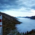 Nebel im Varaita-Tal
