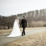 Hochzeitspaar, der Gemeinsame Weg